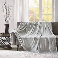 kuscheldecke silber grau wohndecke 280gsm tagesdecke decke flauschig weich und angenehm warm überwurf sofadecke mit premium feeling