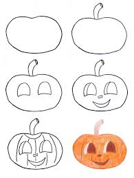 Halloween Pumpkin Coloring Ideas by Easy Things To Draw Within Halloween Drawing Ideas Vladimirnews Me