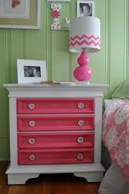 Take a simple dresser and add bright colors to just the drawers and