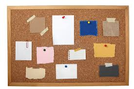 Download Brown Old Paper Note Background Cork Board Stock Photo