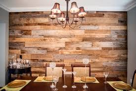 Dining Room Reclaimed Wood Accent Wall Orlando Walls Barnwood