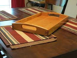 Cherry Serving Tray With Purpleheart Splines