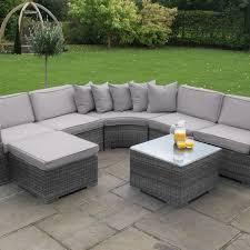 maze rattan barcelona corner sofa garden furniture set grey