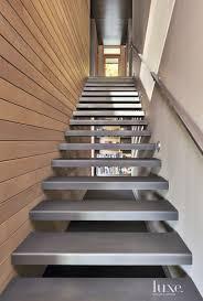 104 Contemporary Cedar Siding Neutral Staircase With Luxe Interiors Design