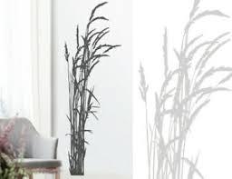 wandtattoo gras gräser wandaufkleber wohnzimmer schlafzimmer