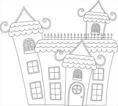 coloriage à imprimer une maison hantée dory fr coloriages