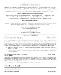 Resume Format For Teaching Job In School Teacher Samples Create This Primary Professional Elementary Ex Template Australia Faculty