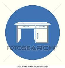 icone bureau clipart bureau bureau icône dans noir style isolé blanc