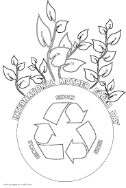 Earth Day Coloring Pages Recycling New Printable