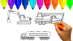 100 Construction Truck Coloring Pages Excavator Page Lovely