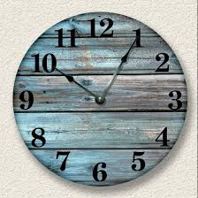 Bed Bath And Beyond Decorative Wall Clocks by Amazon Com Weathered Boards Image Wall Clock Distressed Teal