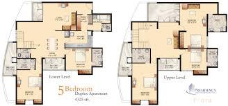 One Level House Floor Plans Colors Duplex House Floor Plans Modern Rooms Colorful Design Wonderful At