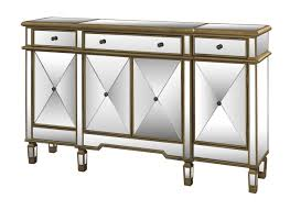 Powell Furniture Gold Mirrored Console