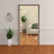 rs interhandel glastür aufkleber folie glasdekor fensterfolie sichtschutz wohnzimmer türen pusteblume einzeln oder als set 1 pusteblume ca