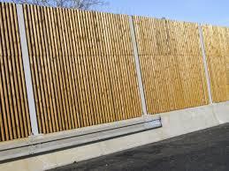 mur de separation exterieur mur anti bruit bois