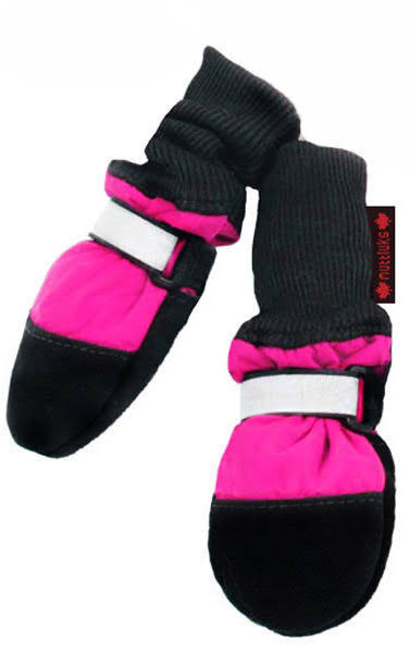 Fleece Lined Muttluks Pink Dog Boots Small