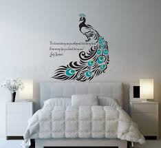 Peacock Wall Decal Bird Bedroom By ValdonImages