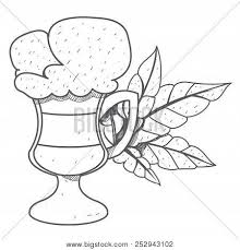 Iced Coffee In The Cup Outline Drawing