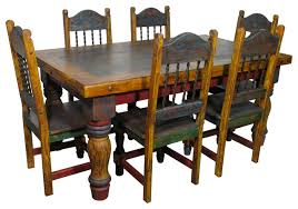 Mexican Dining Room Sets Country Style Table 5