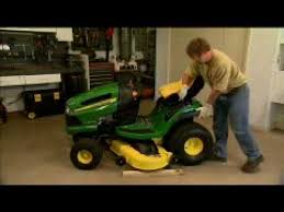 John Deere 48c Mower Deck Manual by Removing And Attaching A Mower Deck Youtube