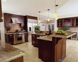 Kitchen Backsplash Ideas With Dark Wood Cabinets by Luxury Kitchen Design Ideas And Pictures