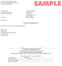 sample of an invoice Expinanklinfire