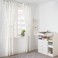 len 2 gardinen raffhalter punkte weiß 120x300 cm ikea