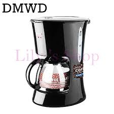 DMWD Single Cup Electric Coffee Maker Automatic 1 Drip Cafe Machine Mini Household Espresso Teapot Tea Boiler EU US In Makers From Home