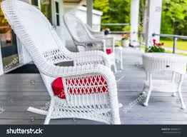 100 Rocking Chairs For Nursery Burlington Front Porch House White Stock Photo Edit Now