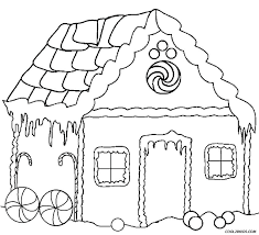 Gingerbread House Coloring Sheets Free Houses Pages Printable For Kids