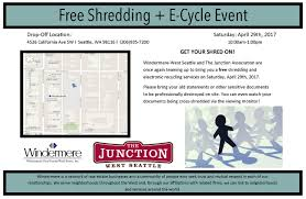 West Seattle Christmas Tree Disposal by Shed Paperwork With Windermere And Junction Shredding Event April 29th