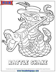 Skylanders Swap Force Undead Rattle Shake Coloring Page