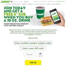 Behind The Scenes Of Subway's Text Messaging Campaign | Tatango Subway Singapore Guest Appreciation Day Buy 1 Get Free Promotion 2 Coupon Print Whosale Coupons Metro Sushi Deals San Diego Coupons On Phone Online Sale Dominos 1for1 Pizza And Other Promotions Aug 2019 Subway Usa Banners May 25 Off Quip Coupon Codes Top August Deals Redskins Joann Fabrics Text Canada December 2018 Michaels Naimo Deal Hungry Jacks Vouchers Valid Until Frugal Feeds Free 6 Sub With 30oz Drink Purchase Sign Up For