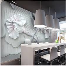 benutzerdefinierte 3d stereo mauer lilie blume tapete wandbild für wohnzimmer esszimmer tv hintergrund 3d tapete vinyl tapete