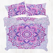 Buy Pink Purple King Size Mandala Duvet Cover At Shrimandala