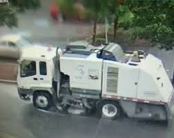Greenwood Police Seek Street-sweeping Truck That Took Down Utility ... 1992 Intertional 4600 Street Sweeper Truck Item I4371 A Cleaning Mtains Roads In Dtown Seattle Howo H3 Street Sweeper Powertrac Building A Better Future Friction Powered Truck Fun Little Toys China Dofeng 42 Roadstreet Truckroad Machine Global Environmental Purpose Built Mechanical Sweepers Passes Front Of The Grand Palace Bangkok 1993 Ford Cf7000 At9246 Sold Know Two Different Types For Sale Or Rent Welcome To City Columbia