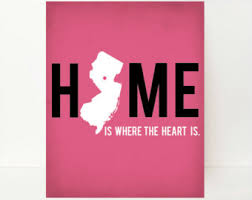 Home Is Where The Heart New Jersey Art State Artwork