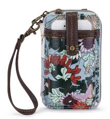 Smartphone Wristlet Sky Blue Flower Power in Prints flower power