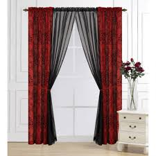Lace Priscilla Curtains With Attached Valance by Living Room Sheer Curtains Lace Sheer Curtain Panels Country