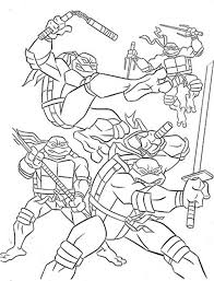 Teenage Mutant Ninja Turtles And Their Weapon Of Choice Coloring Page