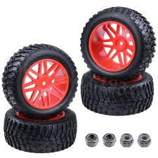 100 Cheap Rims For Trucks 4pcs 94mm Rubber 22 RC Pull Rally Truck Wheels Tires 12mm Hub Hex