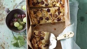 quark kuchen mit trauben