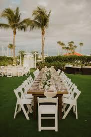 Outdoor Garden Waterfront Wedding Reception With Tropical Wedding ...