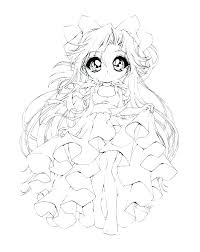 Chibi Coloring Pages Page Anime Printable Princess For All Ages Colouring Kawaii G