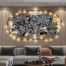 whr gz wanduhr wohnzimmer kreative diy dekoration weltkarte