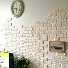 70x77cm PE Foam 3D Wall Stickers Safty Home Decor Wallpaper DIY Brick Living Room Kids Bedroom Decorative Sticker In From