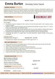 Elementary School Teacher Resume Examples 2017 O In