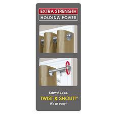Twist And Fit Curtain Rod Walmart by Amazon Com Maytex Twist And Shout Smart Window Hardware Rod 28