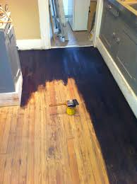how to refinish hardwood floors part 2 stain and seal a girl