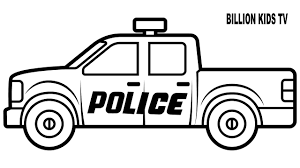 Easy Fire Truck Coloring Pages With Police Colors For Kids Vehicles ...